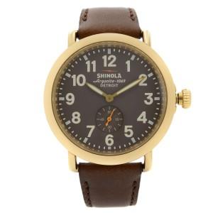 Shinola The Runwell Gold-Tone Steel Brown Dial Quartz Mens Watch S0100070
