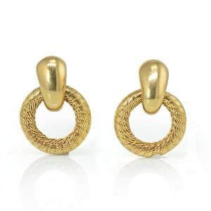 Tiffany & Co. Vintage 18K Yellow Gold  Door Knockers Circle Earrings