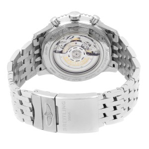 Breitling Navitimer 1 B01 46mm Steel Black Dial Mens Watch AB0127211B1A1