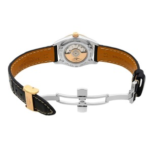 Longines Conquest Classic 18K Gold Steel Black Dial Ladies Watch L2.285.5.57.3