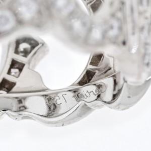 Cartier 18K White Gold De 'c' Diamond Ring 2.00cttw Size 8