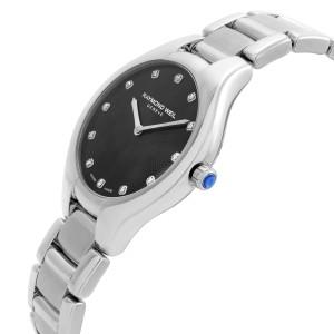 Raymond Weil Noemia Steel Black Diamonds Dial Quartz Ladies Watch 5132-ST-20081