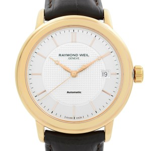 Raymond Weil Toccata Rose Gold PVD Steel Silver Dial Mens Watch 2837-PC5-65001