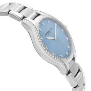 Raymond Weil Noemia Steel Diamond Blue Dial Quartz Ladies Watch 5132-STS-50081