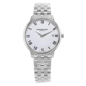 Raymond Weil Toccata 42mm Steel White Roman Dial Quartz Mens Watch 5588-ST-00300