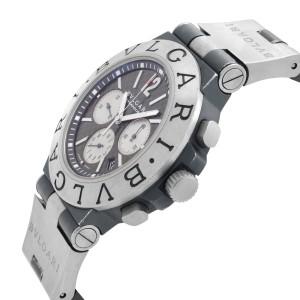 Bvlgari Diagono Chronograph Titanium Black Dial Automatic Mens Watch TI 44 TA CH