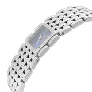 Cartier Panthere Ruban 21mm Steel Blue MOP Dial Quartz Ladies Watch W61002T9