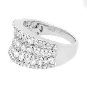 Rachel Koen 18K White Gold Diamond Ring 1.90cttw Size 7
