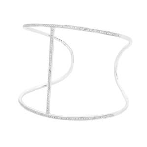 Rachel Koen 18K White Gold Diamond Bangle Bracelet  0.70cttw