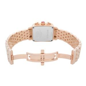 Michele Deco Rose Gold Steel Diamond 0.66cttw MOP Dial Quartz Watch MWW06P000109