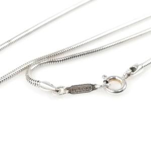 Tiffany & Co. silver Trump diamond design top snake chain necklace