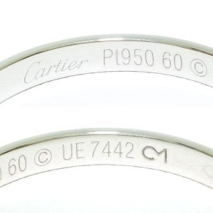 Cartier 950 Platinum Ring Size 9