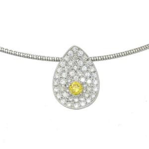 18k white gold/Diamond Necklace