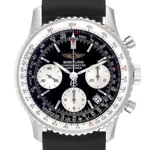 Breitling Navitimer Black Dial Chronograph Steel Mens Watch A23322