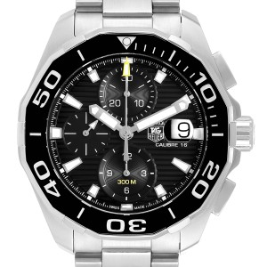 Tag Heuer Aquaracer Black Dial Chronograph Steel Mens Watch CAY211A
