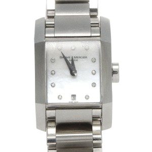 Baume & Mercier Damiant 8573 Mother of Pearl Diamond Dial Quartz Watch