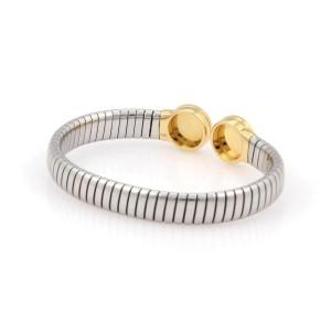 Bvlgari Steel & 18K Yellow Gold Tubogas Onyx Bracelet
