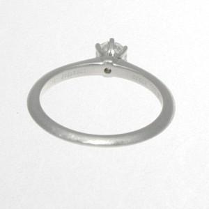 Tiffany & Co. Platinum Diamond Solitare Ring