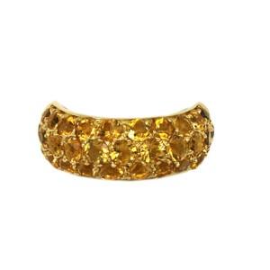 H.t. Stewart 18kt Yellow Gold Citrine Gemstone Dome Band
