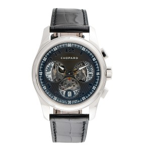 Chopard LUC Chrono One 161916-1001 18K White Gold 40mm Mens Watch
