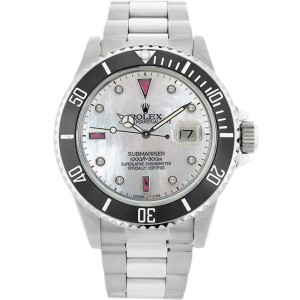 Rolex Submariner 16610 Stainless Steel & Mother Of Pearl Dial 40mm Mens Watch