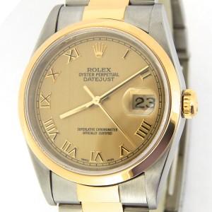 Mens Rolex Two-Tone Datejust Gold Roman 16203
