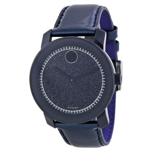 Movado 3600229 Navy Dial Navy Leather Strap Womens Watch