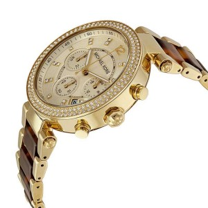 Michael Kors MK5688 Parker Gold Dial Gold Tone Chronograph Womens Watch