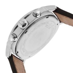 Bulova Military 96B231 Beige Dial Leather Strap Chronograph Men's Watch