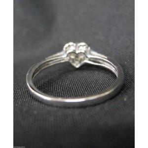 White White Gold Diamond Mens Ring Size 7