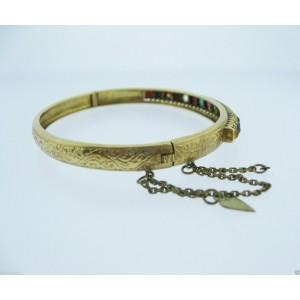 Yellow Gold Mens Bracelet