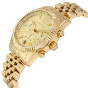 Michael Kors MK5556 Lexington Champagne Dial Gold Tone Chronograph Womens Watch
