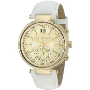 Michael Kors Sawyer MK2528 Gold Tone Stainless Steel / Leather 39mm Womens Watch