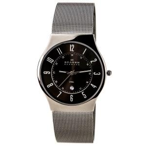 Skagen 233XLSTM Stainless Steel Gunmetal Ion-Plated Grey Dial Quartz 36mm Mens Watch