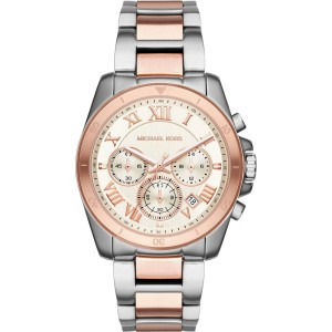Michael Kors Brecken MK6368 Two Tone Stainless Steel with White Dial 40mm Womens Watch