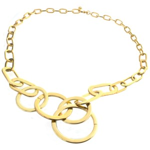 Michael Kors Gold Tone Stainless Steel Chain Necklace