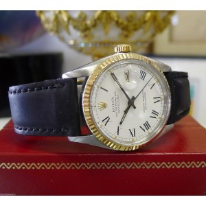 Rolex Datejust 16013 Yellow Gold & Stainless Steel White Dial Vintage 36mm Mens Watch