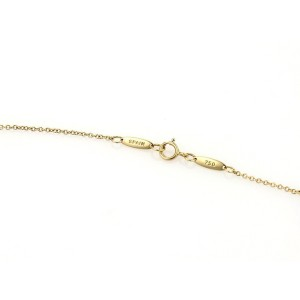 Tiffany & Co. Elsa Peretti 18K Yellow Gold Double Curved Loop Pendant Necklace