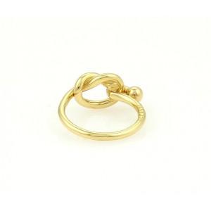 Tiffany & Co. 18K Yellow Gold Hook & Eye Ring Size 5