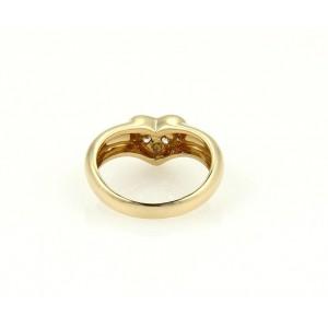 Tiffany & Co. 18K Yellow Gold & 0.30ctw. Diamond Heart Ring Size 5.25