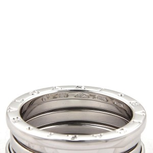 Bulgari B Zero-1 18K White Gold Wide Band Ring Size 9.5