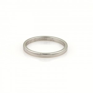 Cartier 950 Platinum Plain Wedding Band Ring Size 8