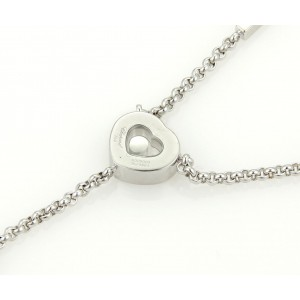 Chopard Happy Diamonds 18K White Gold with 0.05ct Daimond I Love You Pendant Necklace