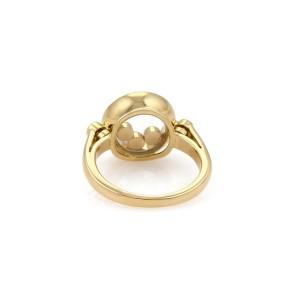 Chopard Happy Diamond 18K Yellow Gold with 0.39ct Diamond Ring Size 4.5