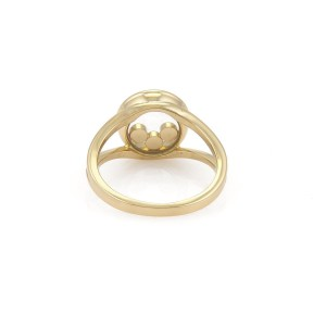 Chopard Happy Diamond 18K Yellow Gold with 0.15ct Floating Diamond Ring Size 7