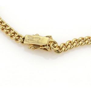 Chopard Happy Diamonds 18K Yellow Gold with Diamonds Curb Link Chain Bracelet