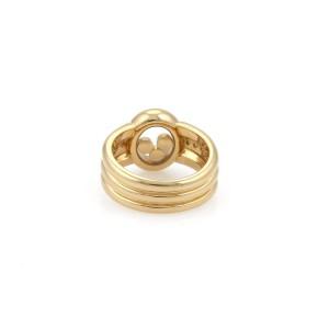 Chopard Happy Diamond 18K Yellow Gold with 0.35ct Diamond Ring Size 5