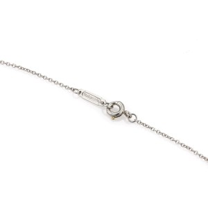 Tiffany & Co. Victoria 950 Platinum & 0.20ct. Marquise Diamond Floral Pendant Necklace