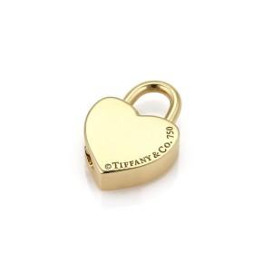 Tiffany & Co. Vintage 18K Yellow Gold Heart Padlock Pendant