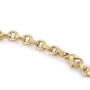 Tiffany & Co. 18K Yellow Gold Oval & Round Chain Link Bracelet